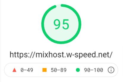 PageSpeed Insightsでの測定結果